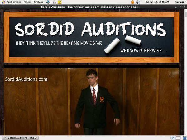 Sordid Auditions Using Pay Pal