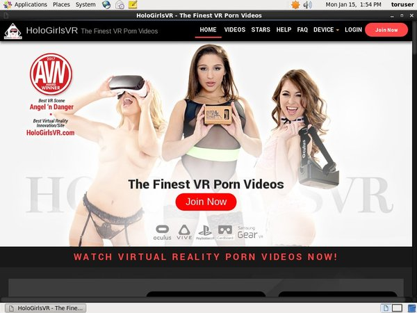 Holo Girls VR Login Passwords